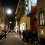 Laser in via Sant'Andrea