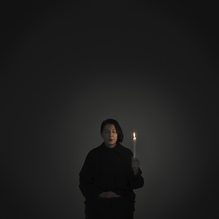 Marina Abramović – Artist Portrait with a Candle (B) (from the series WIth Eyes Closed I See Happiness), 2012 – Courtesy Marina Abramović
