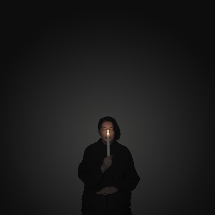 Marina Abramović Artist Portrait With a Candle (A) (from the series With Eyes Closed I See Happiness), 2012 – Courtesy Marina Abramović
