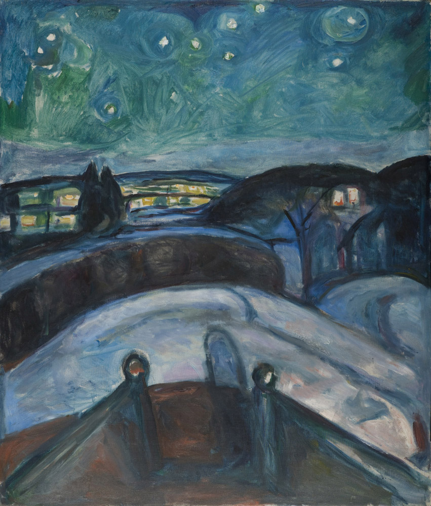 Edvard Munch - Starry Night - 1922-24 - Munch Museum - © Munch Museum/Munch-EllingsendGroup/DACS 2012