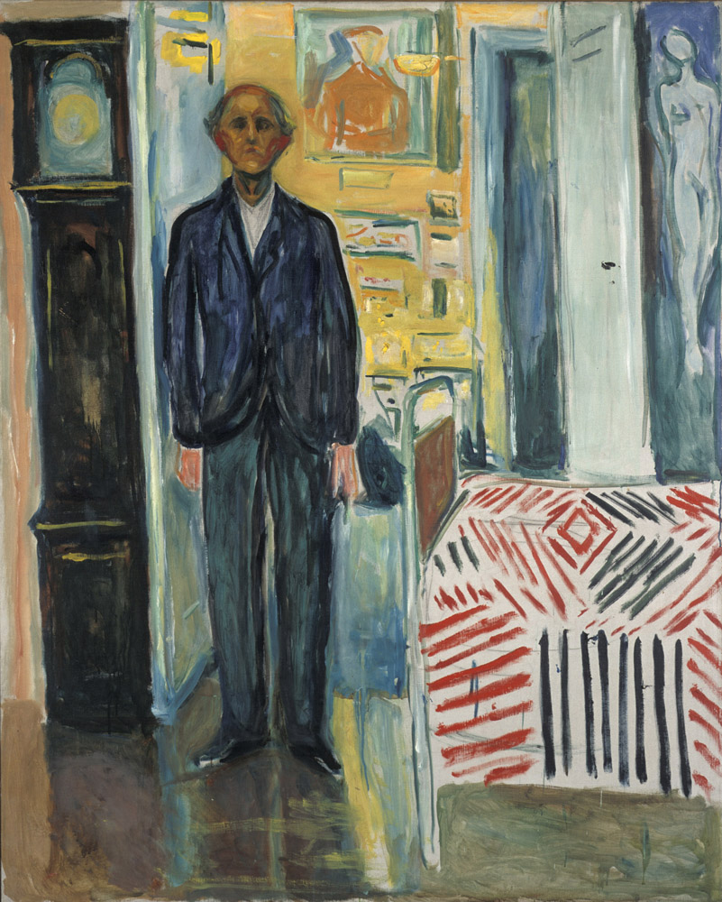 Edvard Munch - Self-Portrait: Between the Clock and the Bed - 1940-43 - Munch Museum - © Munch Museum/Munch-EllingsendGroup/DACS 2012