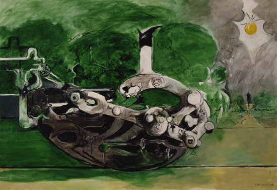 Graham Sutherland - Poised Form in a Landscape - 1969