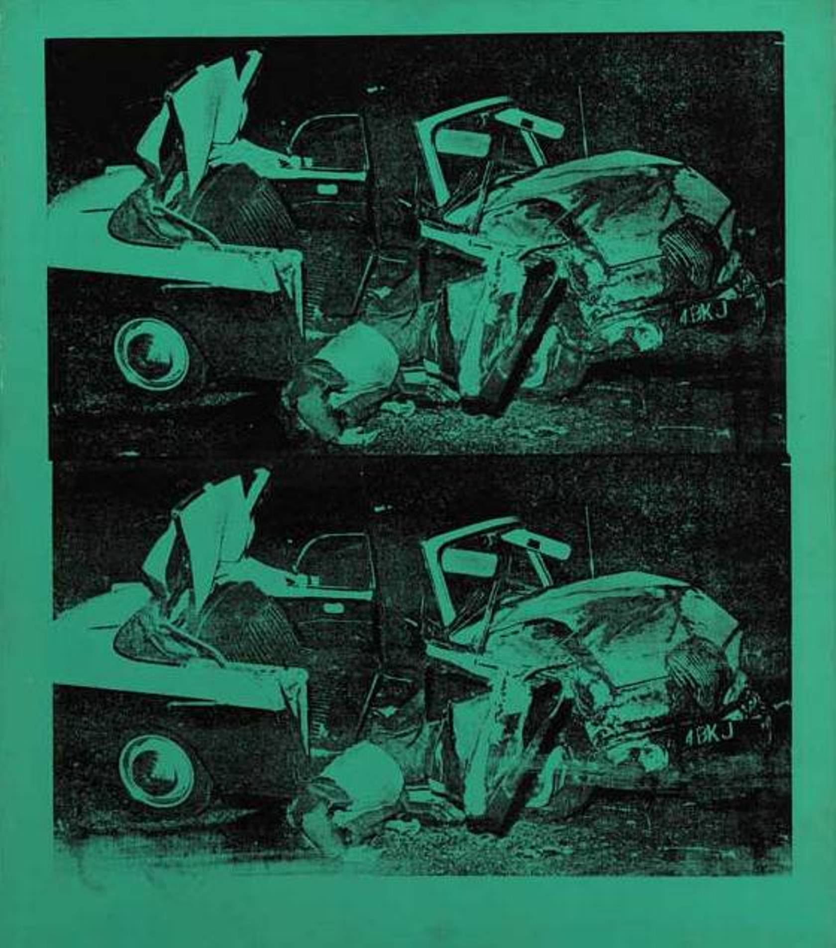 Andy Warhol - Green Disaster (Green Disaster Twice)