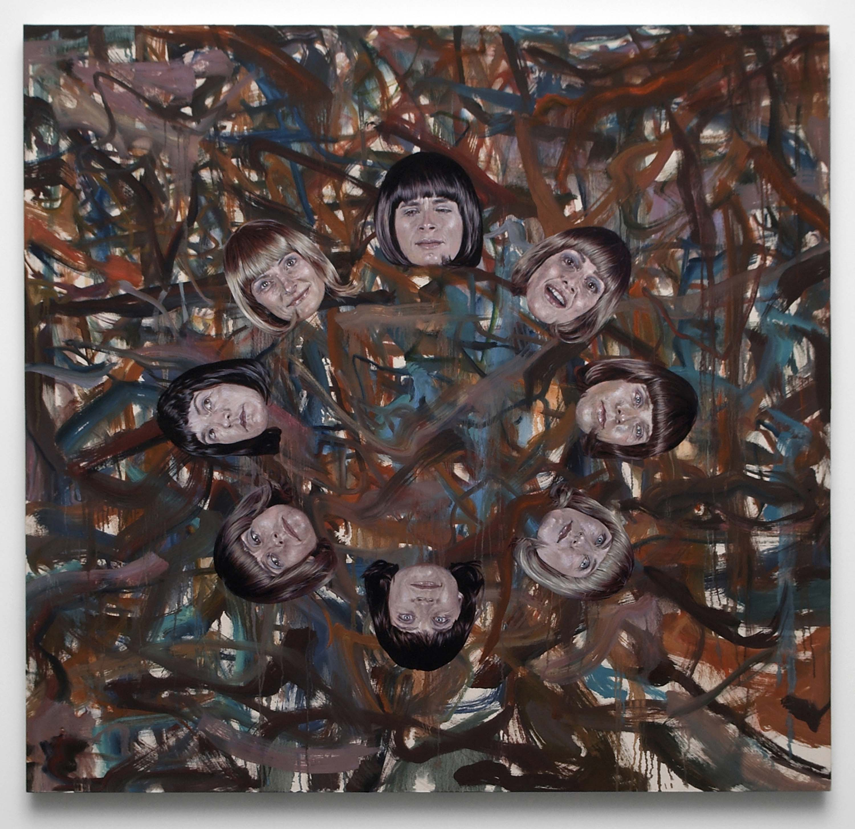 Jim Shaw, Untitled (Faces in circle) (2009) Courtesy the artist and Simon Lee Gallery, London