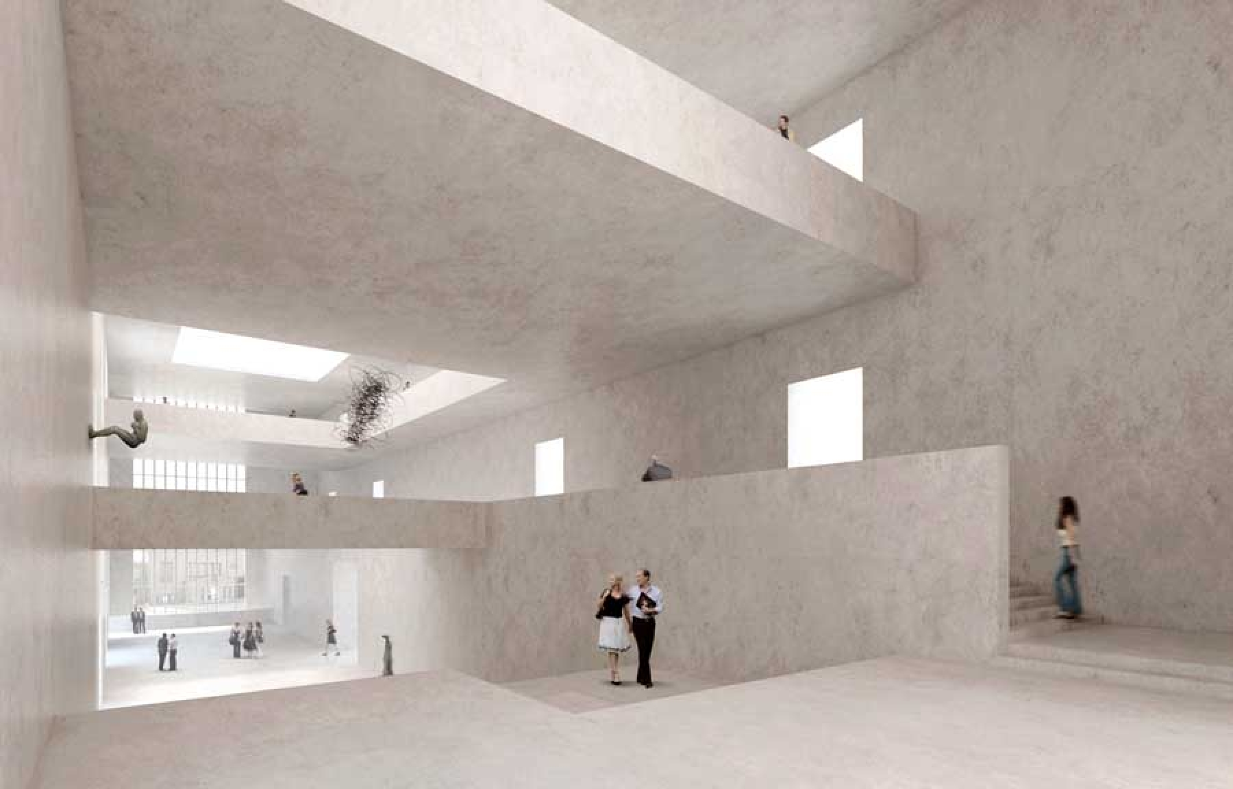 Rendering del progetto per la Kunsthaus Zürich  (© David Chipperfield Architects)