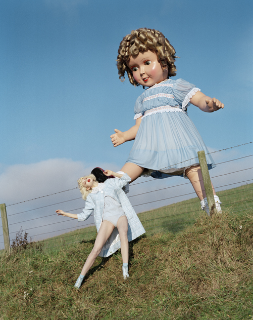 Tim Walker - Giant doll kicks Lindsey Wixson Fashion: Louis Vuitton Englingham Hall, Northhumberland, 2011
