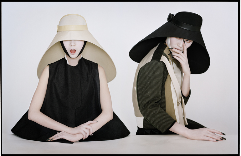 Tim Walker - Xian Wen and Liu Wen as samurai nuns, Fashion Yves St Laurent and Balenciaga, New York 2011