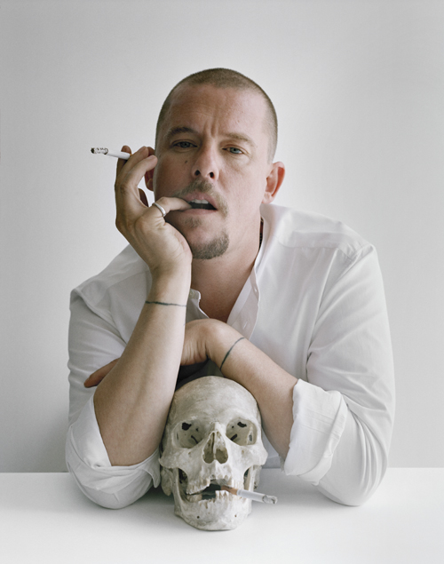 Tim Walker - Alexander McQueen with skull and cigarettes Clerkenwell, London, 2009