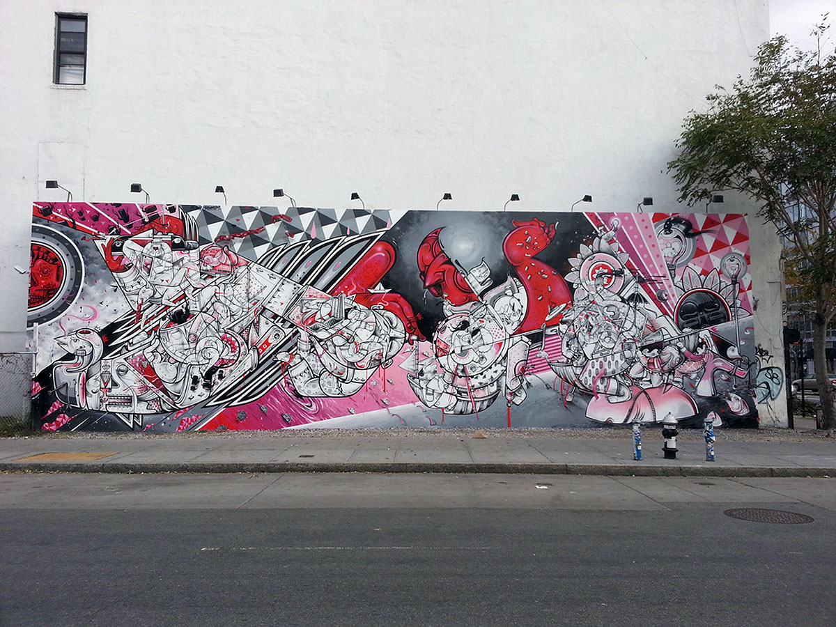 Houston and Bowery murales - How and Nosm