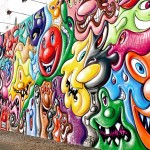 Houston and Bowery murales - Kenny Sharf