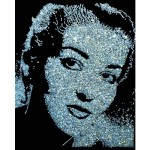 Vik Muniz, Maria Callas, from the Pictures with Diamonds series, 2004. Courtesy, Pan American Art Projects, Miami