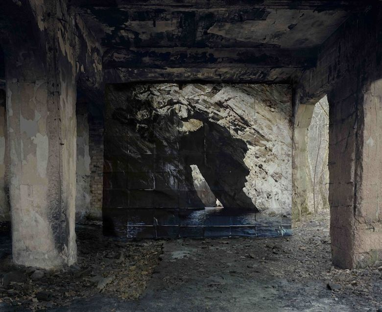 Noemie Goudal, Haven her body was (Creus) 2012, Lightjet, courtesy of Project B Gallery