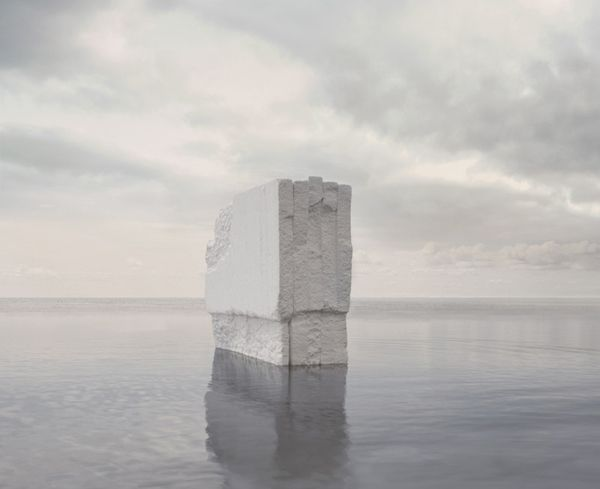 Noemie Goudal, Haven her body was (Iceberg) 2012, Lightjet, courtesy of Project B Gallery