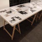 Noemie Goudal, Haven her body was, Research table 1, at Project B Gallery