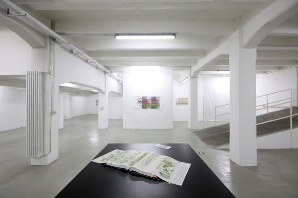 Ward Shelley – State of Things - veduta della mostra presso The Flat, Milano 2012