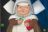 Feranando Botero, Nun eating an apple, 1981, olio su tela, 90x100 cm