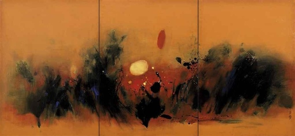 Cheong Soo-Pieng - Abstract Triptych