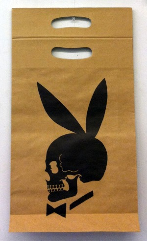 "Richard Prince, Skull Bunny"", paper bags, 1991 (fronte)"