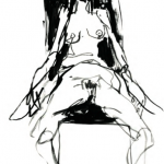 Tracey Emin, Lonely Chair Drawing V