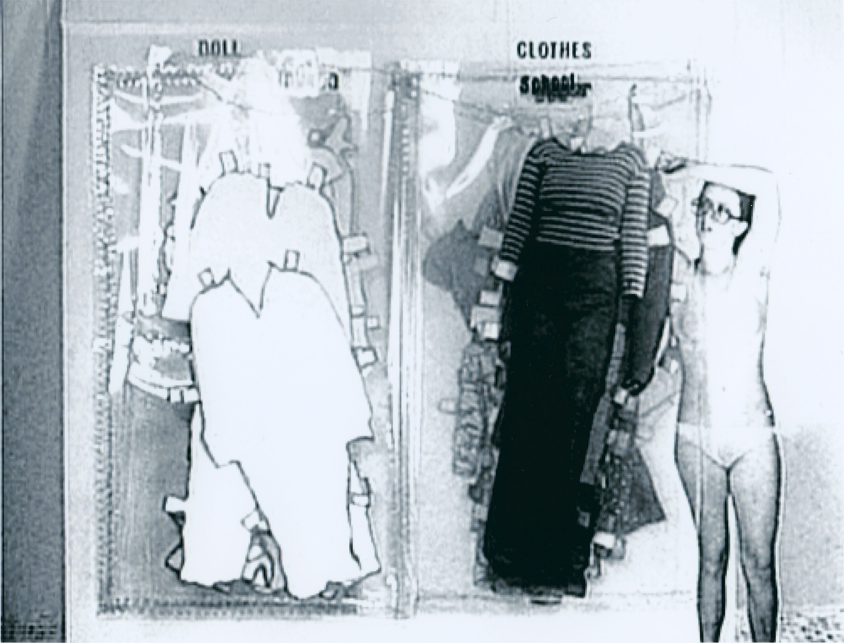 Cindy Sherman, Doll Clothes, 1975, 16-mm film transferred to DVD, Black and white, silent, 2:22 min, loop, © Cindy Sherman