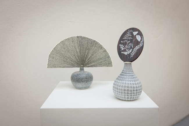 Max Hymes, view of Drawn Fan and Fan with Ferns, 2008, photo©Giovanni De Angelis, Courtesy CO2