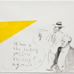 Pavel Pepperstein, Untitled (Oh, here is this fucking yellow triangle again!), 2012 - Courtesy Galleria Monica De Cardenas, Milano - Foto di Andrea Rossetti