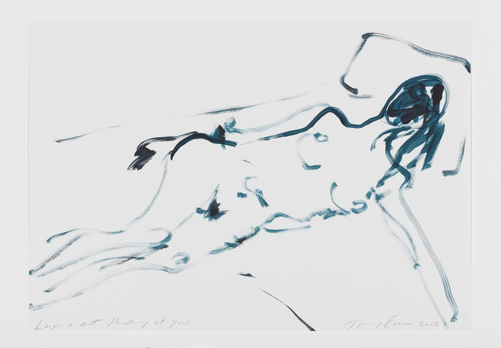 Tracey Emin, Laying out Thinking of you, 2012, Gouache on paper - Galleria Lorcan O'Neill Roma