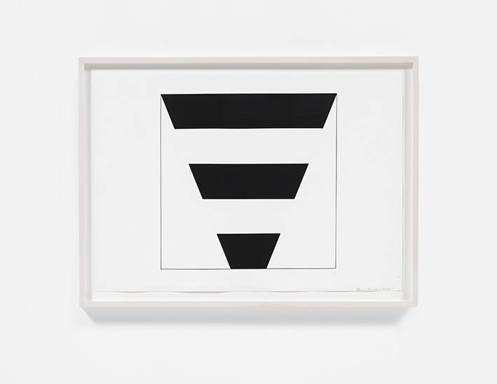 Carmen Herrera, Untitled, 2010, Acrylic and pencil on paper, Courtesy the artist and Lisson Gallery