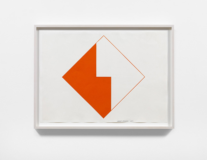 Carmen Herrera, Untitled, 2011, Acrylic and pencil on paper, Courtesy the artist and Lisson Gallery