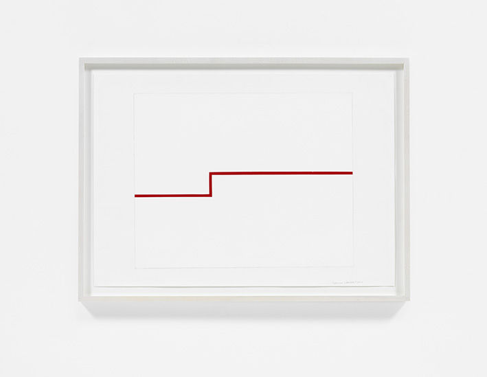 Carmen Herrera, Untitled, 2012, Acrylic and pencil on paper, Courtesy the artist and Lisson Gallery