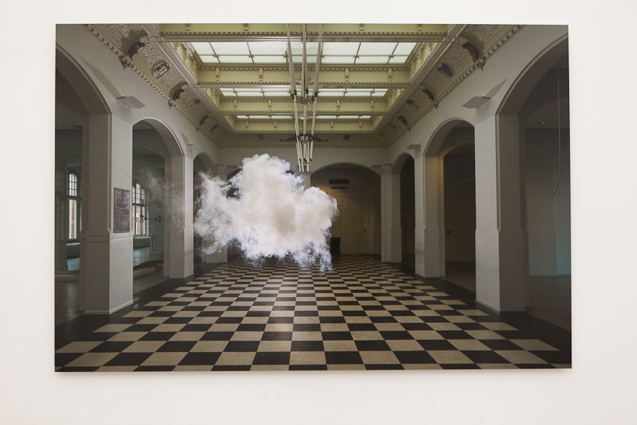 Installation image, The Uncanny Adeline de Monseignat and Berndnaut Smilde, Ronchini Gallery, photo Susanne Hakuba