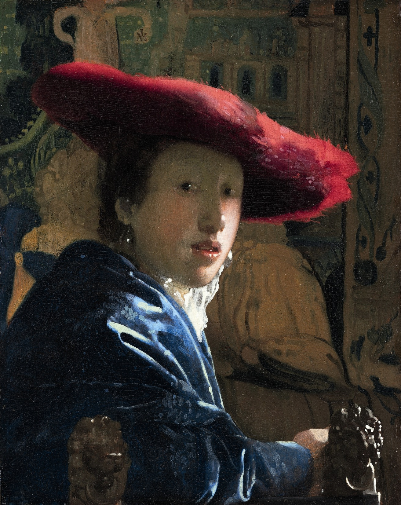Johannes Vermeer - Girl with a Red Hat, National Gallery of Art, Washington - Vermeer. Il secolo d'oro dell'arte olandese, Scuderie del Quirinale, Roma
