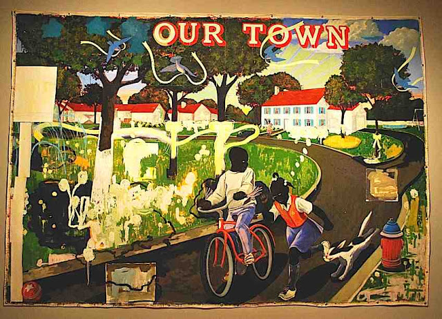 Kerry James Marshall - Our Town - 1995