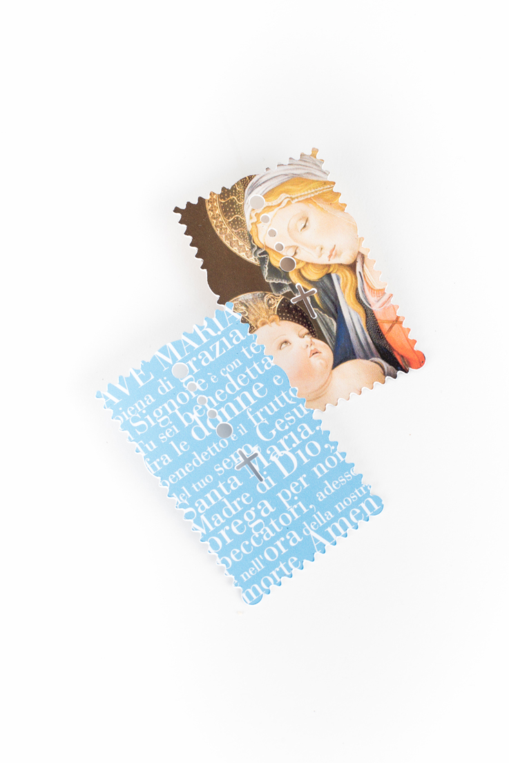Ginette Caron - Rosary Card
