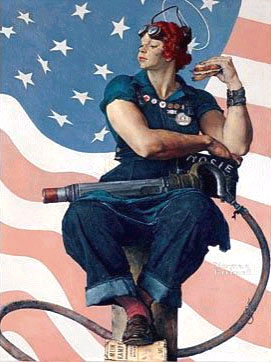 Norman Rockwell - Rosie the Riveter - 1943