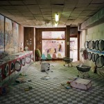 Lori Nix, Laundromat, 2008, from The City series