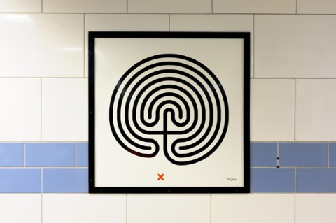 Mark Wallinger, Labyrinth, 2013 © The Artist, Courtesy Anthony Reynolds Gallery, London. Photograph © Thierry Bal, 2013