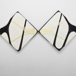 Martin Soto Climent, Tights on Canvas (Double Diptych), 2012, 4 tights, 2 canvases
