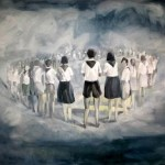 The Promenade - Artan Shabani, Wrong Fables Mixed media and oil on canvas 130 170 cm 2011