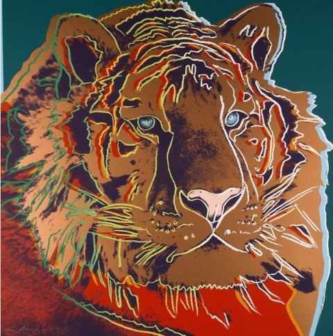 Andy Warhol, Endangered Species (F. & S. II.293-302), una delle opere in asta