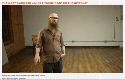 Steve Lambert - The Most Awkward 404 Not Found Page on the Internet