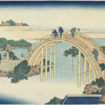 Katsushika Hokusai, Drum Bridge at Kameido Tenjin Shrine dalla serie Unusual Views of Famous Bridges in Various Provinces, 1833-34 - Courtesy Minneapolis Institute of Arts