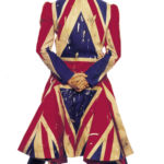 David Bowie, Original photography for the Earthling album cover, 1997 - Union Jack coat designed by Alexander McQueen in collaboration with David Bowie - photo Frank W Ockenfels 3
