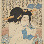 Masami Teraoka, AIDS Series/Geisha in Bath, 2008 - Courtesy Catharine Clark Gallery, San Francisco & (Art) Amalgamated, New York