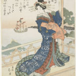 Totoya Hokkei, Courtesan Looking at a Foreign Ship, 1818-44 - Courtesy Minneapolis Institute of Arts