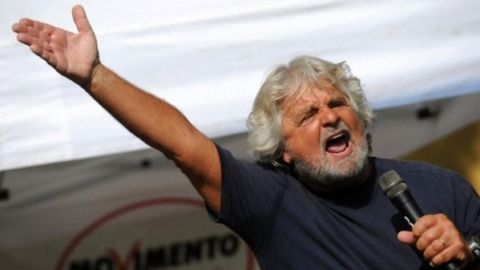 Beppe Grillo - photo Splash News/Corbis