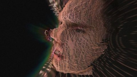 Kyle McDonald's remix of a 3D imaging file from the RGB+D project