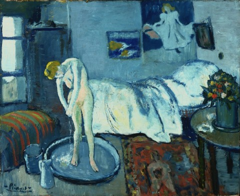 Pablo Picasso, La camera blu, 1901 - The Phillips Collection, Washington
