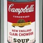 Andy Warhol, Campbell's Soup II: New England Clam Chowder - collezione Bank of America Merrill Lynch - © The Andy Warhol Foundation for the Visual Arts