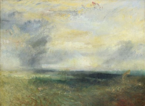 William Turner, Margate [?] from the Sea, 1835-40 ca. – The National Gallery, Londra